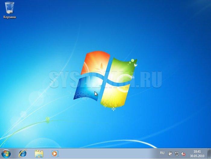 Установка Windows 7 с флешки завершена
