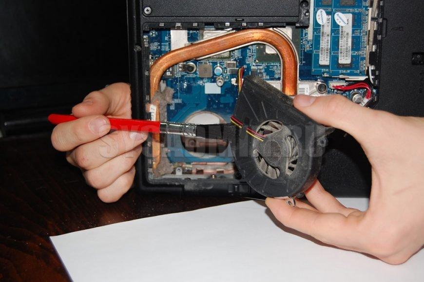 процесс чистки ноутбука
